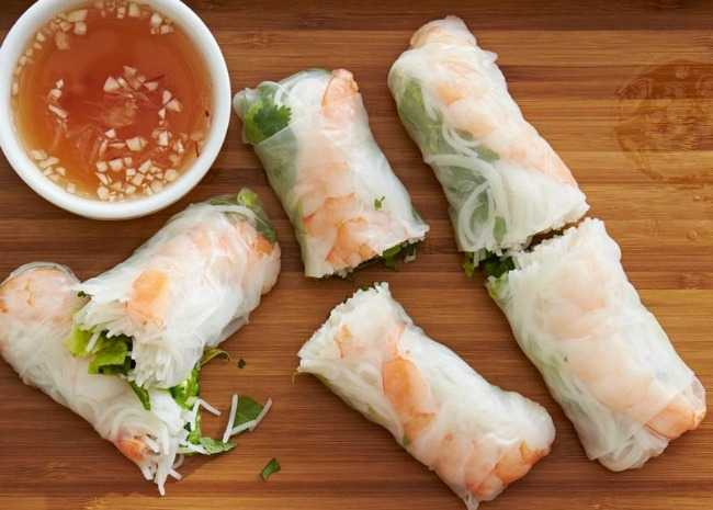 3647841 Vietnamese Fresh Spring Rolls Photo by Allrecipes Magazine 650x465