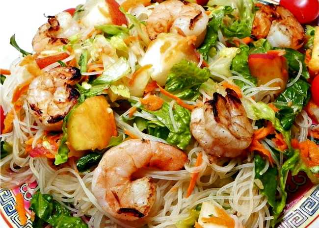 Grilled Shrimp and Rice Noodle Salad