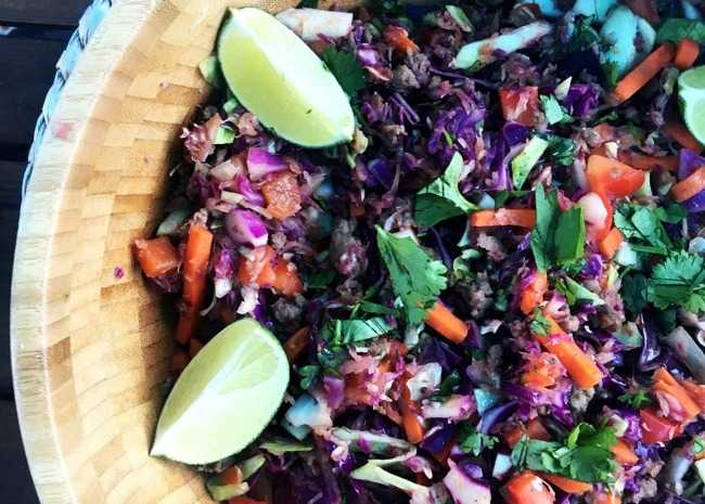 Addictive Asian Beef Slaw (Crack Slaw)
