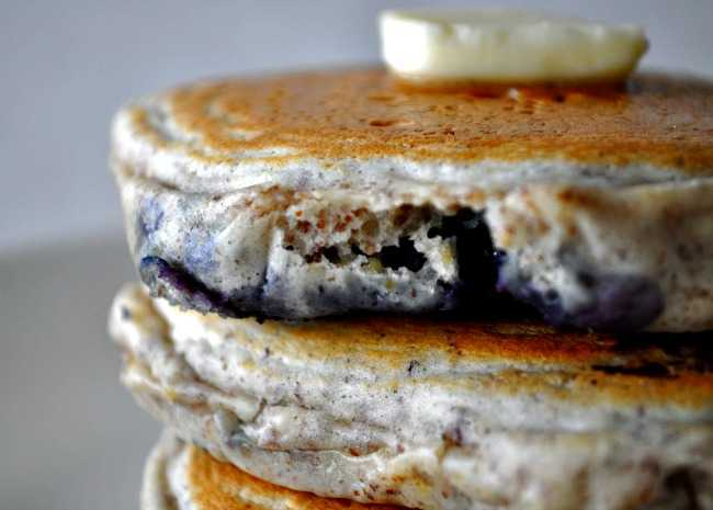 Blueberry Flax Pancakes