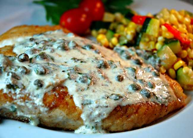 437059 93015 Pan Fried Halibut Steak with Light Green Sauce cookin'mama