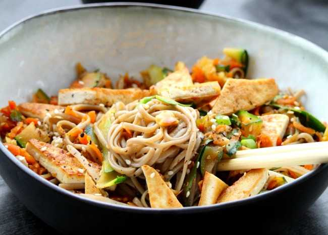 Tamarind Tofu with Vegetables and Soba
