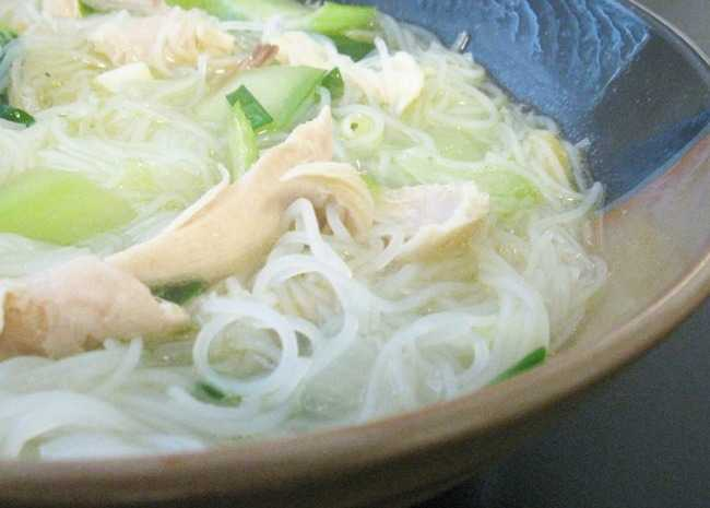 Chicken Long Rice Noodle Soup