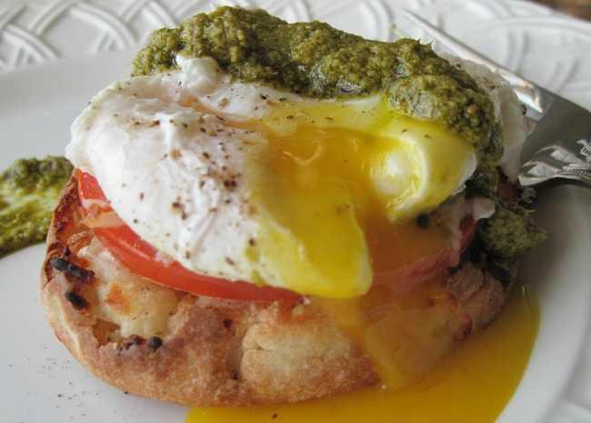 650 x 465 2228417_original poached eggs caprese photo by Cynthia Ross