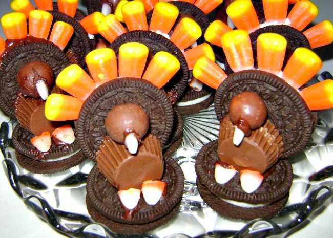 650 x 465 Oreo Candy Corn Turkey photo by Judy7905