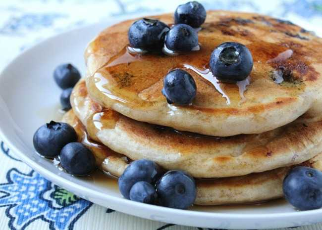 How to make the best pancakes from scratch allrecipes todds famous blueberry pancakes ccuart Gallery