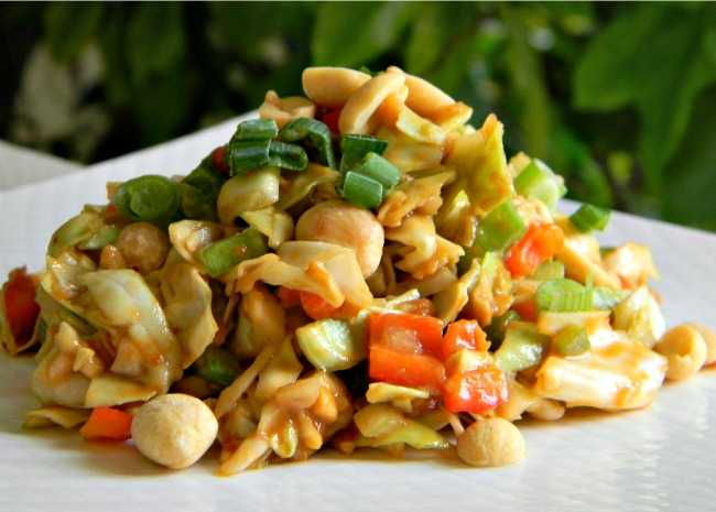 Asian American Slaw with Peanuts and Jalapenos