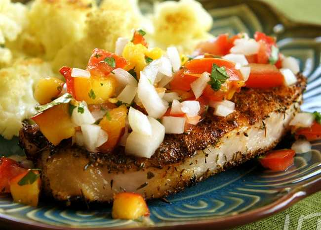 844589_Grilled Pork Chops with Fresh Nectarine Salsa_143355 _ Photo by Unruly Bliss