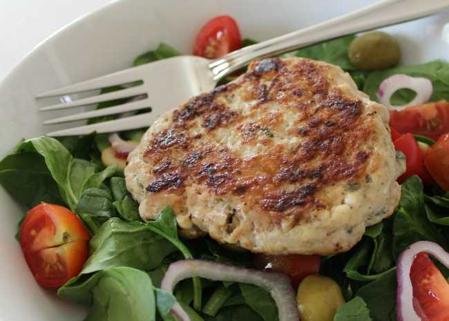 Chicken and Feta Burgers