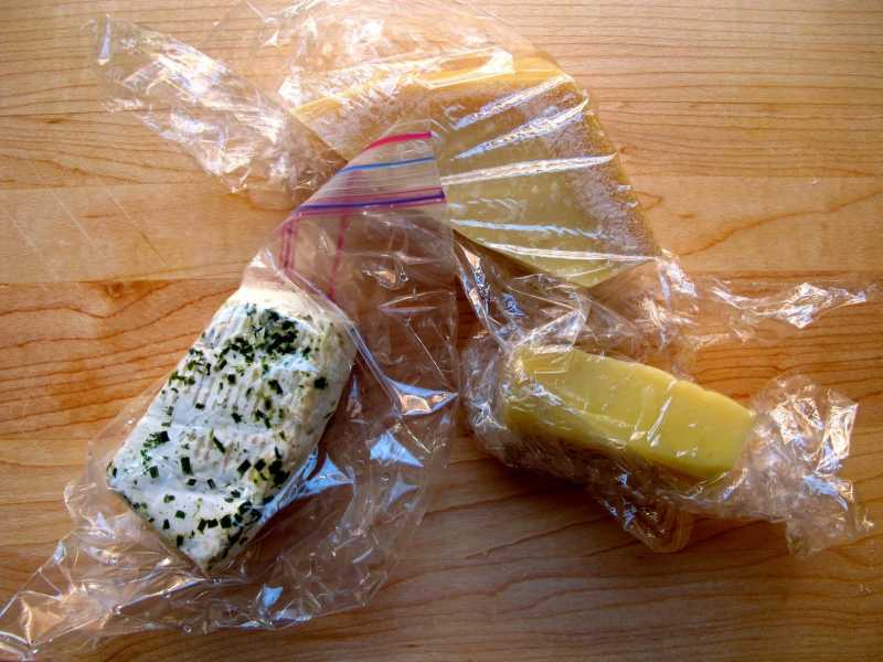 Cheese Wrapped in Plastic