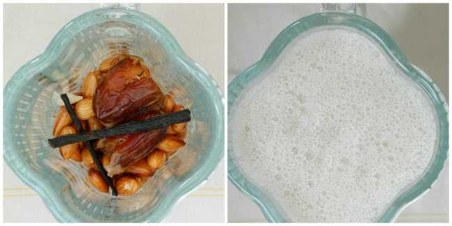 Blending Almonds Before and After