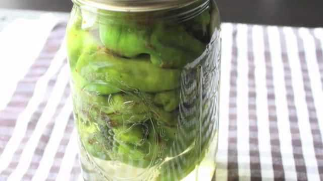 Chef John's Pickled Padrona Peppers