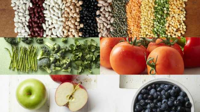 Collage of Superfoods