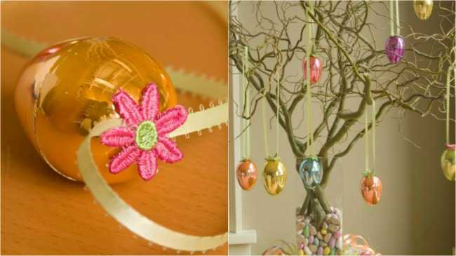 Easter Egg and Easter Egg Tree