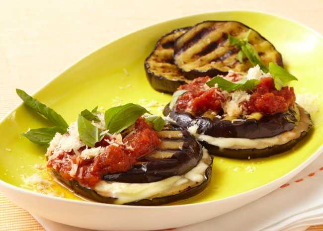 Eggplant with Tomato and Goat Cheese