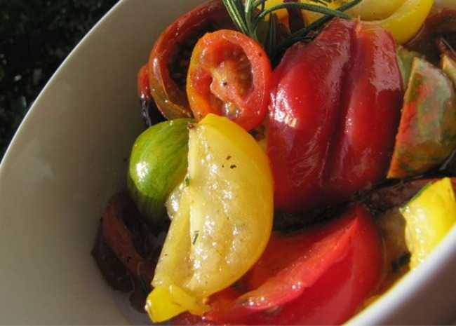 Heirloom Tomato Salad with Rosemary. Photo by MrsFisher0729