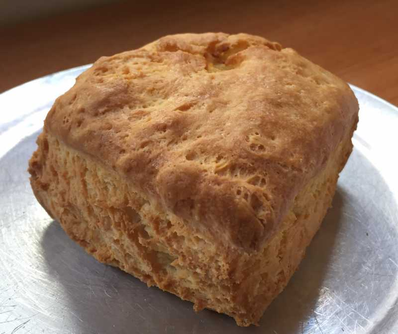 Buttermilk biscuit from Honest Biscuits in Seattle's Pike Place Market