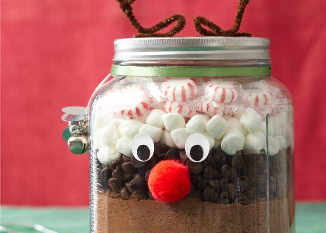 Hot Chocolate Mix in Reindeer Jar