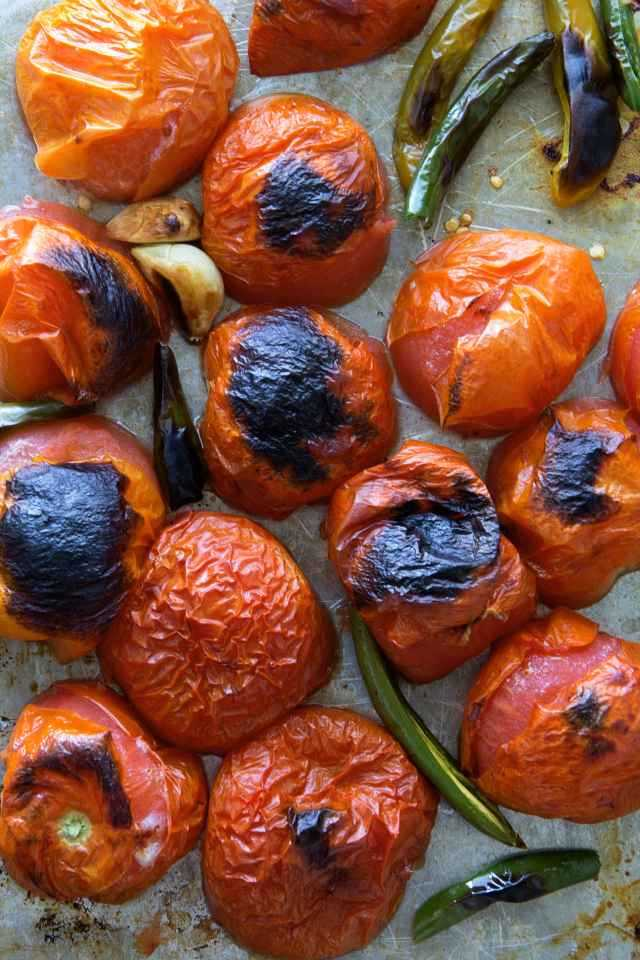 roasted tomatoes for salsa