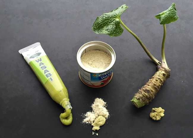 Wasabi Paste, Wasabi Powder, Wasabi Root Grated with Microplane