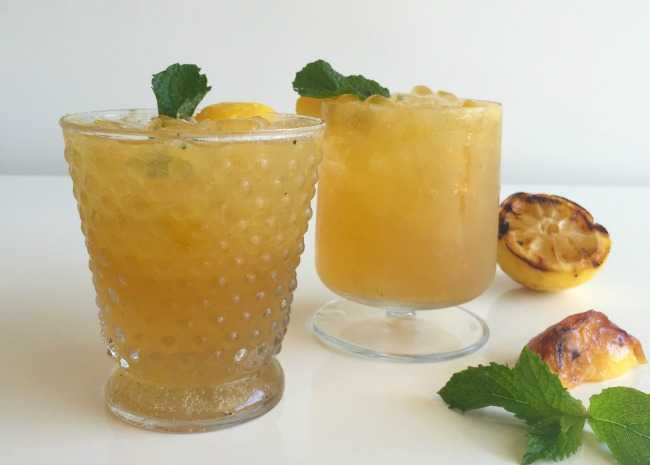 Grilled Peach Bourbon Smash