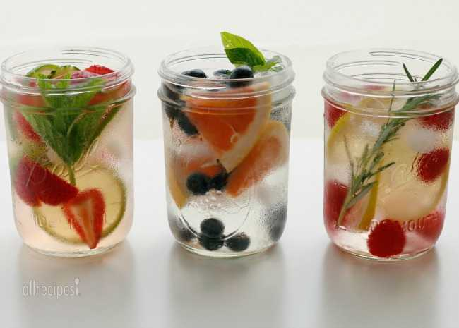 Infused Water in Jars