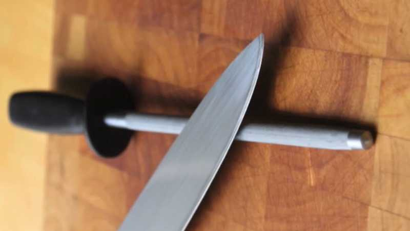 Knife Steel on Counter