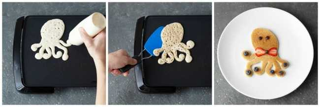 Make an Octopus Pancake