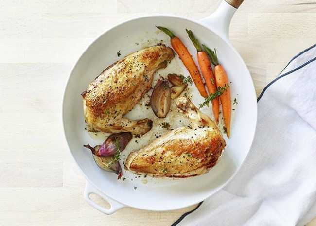 Pan Seared Chicken Breast with Lemon and Thyme