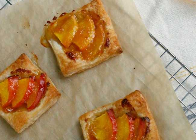 Peach Tartlets with Apricot Glaze