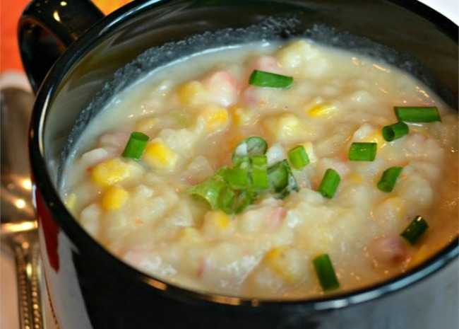 Potatoes and Corn Soup. Photo by Baking Nana