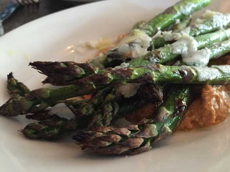 Predictions wood roasted asparagus from Delancey
