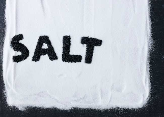 Salt Written in Black in Salt
