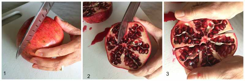 Slicing a Pomegranate
