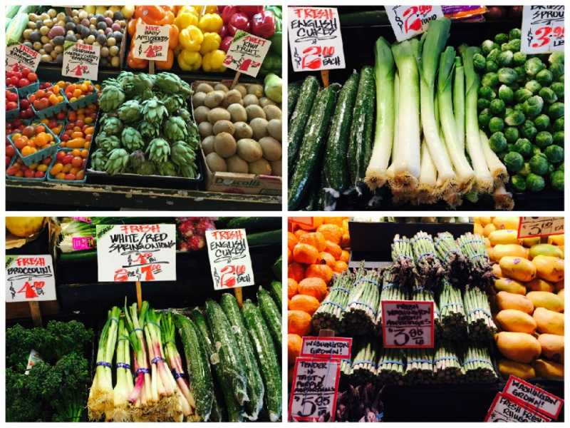 Spring Veggies at Pike Place Market