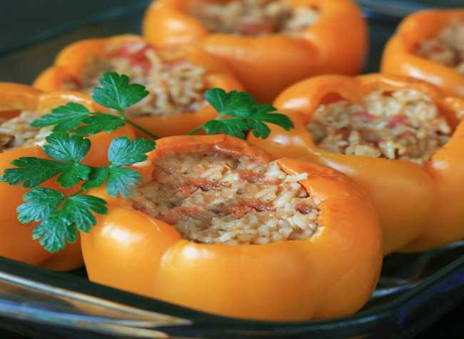 Stuffed Orange Peppers Edited