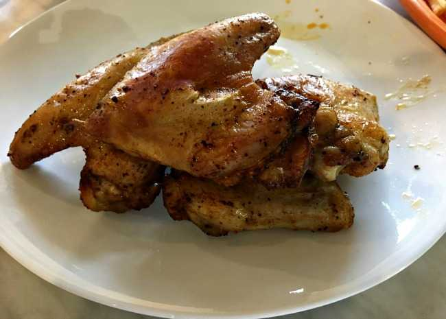 edited wings in the airfryer photo by Leslie Kelly