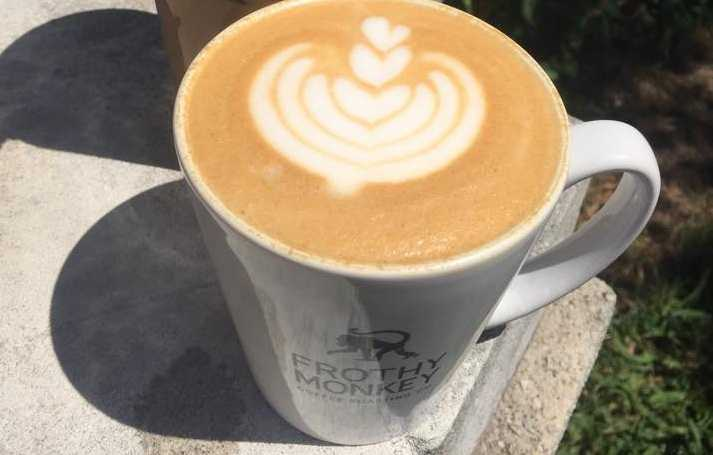 The signature espresso drink from Frothy Monkey in Nashville
