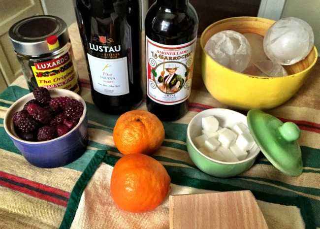 Fixings for Sherry Cobblers