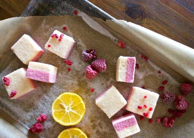 sugared raspberry lemon drop marshmallows