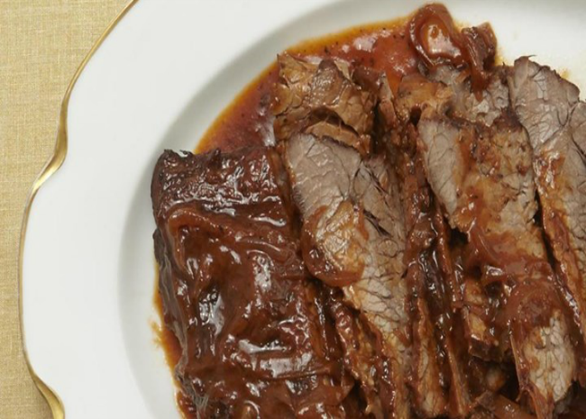 wine-braised beef brisket. photo by allrecipes.