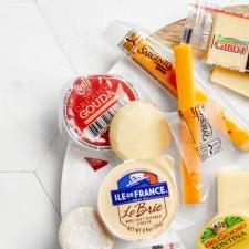 cheeses on a plate