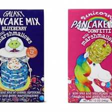 Aldi Unicorn and Galaxy Pancake Mixes
