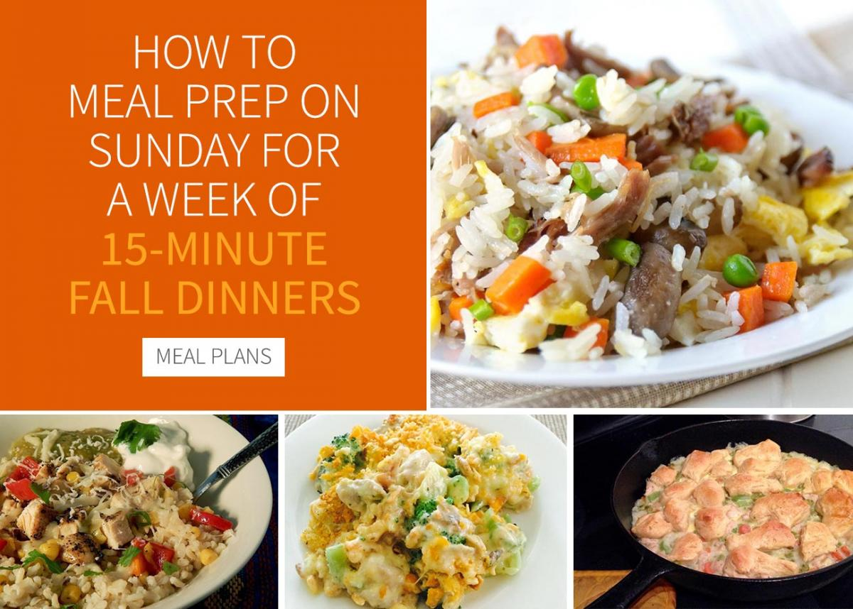 How to Meal Prep on Sunday for a Week of 15-Minute Fall Dinners